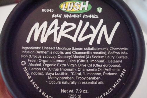 maschera marilyn, maschera inglese, schairire capelli naturalmente, maschera lush marilyn
